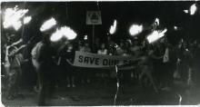 Факелното шествие в Созопол - от пристанището през града до плажа, 4 септември 1990г.